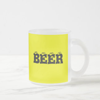 BEER GIFT FROSTED GLASS COFFEE MUG