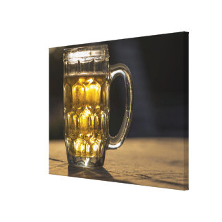 Beer glass beverage close up, India Canvas Print