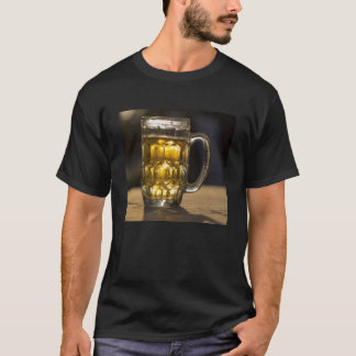 Beer glass beverage close up, India T-Shirt