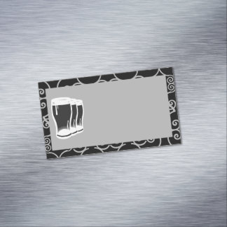 Beer Glasses Business Card Magnet blank