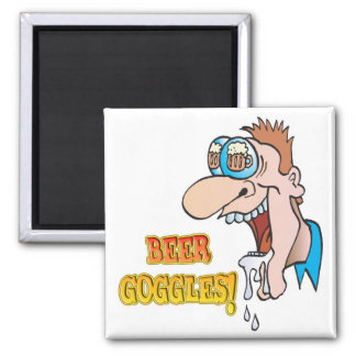 BEER GOGGLES funny drinking design Refrigerator Magnets