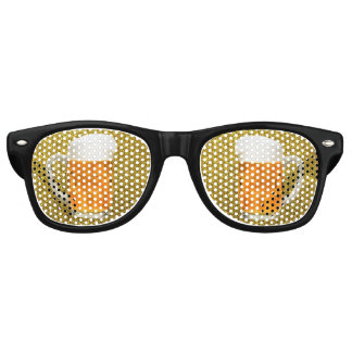 Beer Goggles Pint Mug Gold Glitter Sunglasses