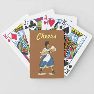 Beer Hall Girl Bicycle® Poker Playing Cards