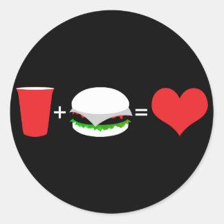 beer + hamburger love sticker