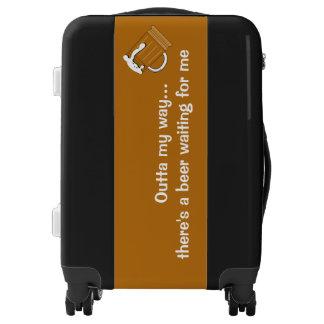 Beer humor luggage