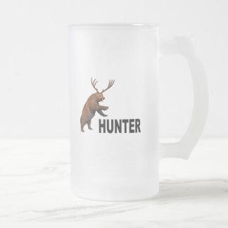 Beer Hunter Frosted Glass Beer Mug