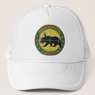 Beer Hunters of America (fun bear w/ antlers logo) Trucker Hat