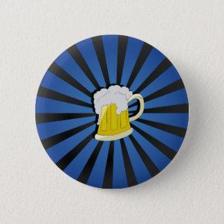 Beer in Blue 6 Cm Round Badge