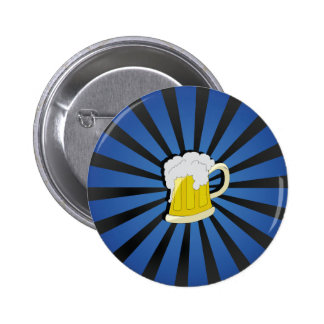Beer in Blue 6 Cm Round Badge