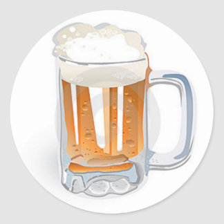 Beer In Mug/Oktoberfest Classic Round Sticker