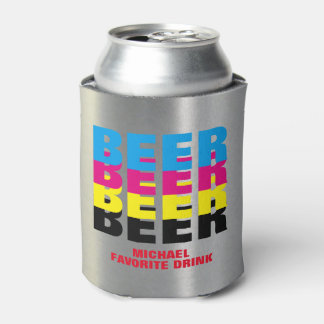 BEER in the CMYK colors, his favorite drink Can Cooler