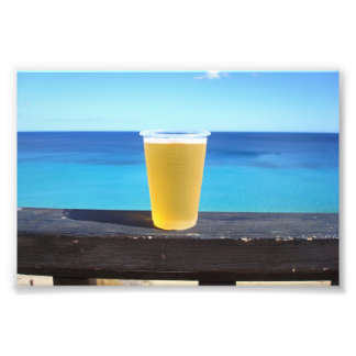 Beer in the sun photographic print