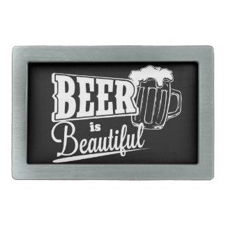 Beer is beautiful rectangular belt buckle