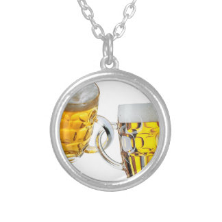 Beer is My Drug Silver Plated Necklace