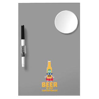 Beer is my superpower Zync7 Dry Erase Board With Mirror