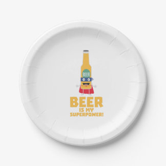 Beer is my superpower Zync7 Paper Plate