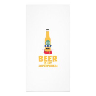 Beer is my superpower Zync7 Personalised Photo Card