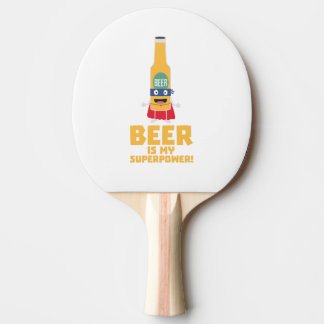 Beer is my superpower Zync7 Ping Pong Paddle