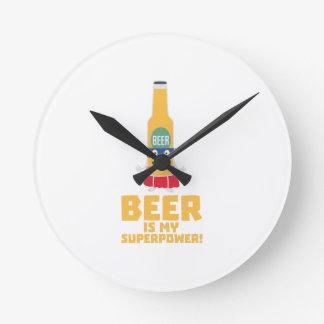 Beer is my superpower Zync7 Round Clock