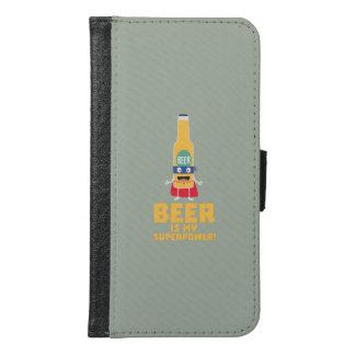 Beer is my superpower Zync7 Samsung Galaxy S6 Wallet Case