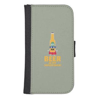 Beer is my superpower Zync7 Samsung S4 Wallet Case