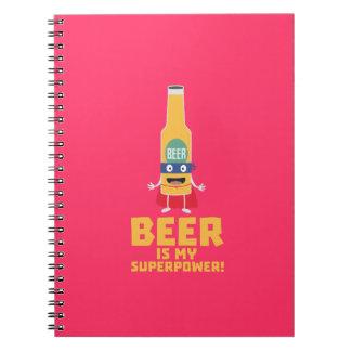 Beer is my superpower Zync7 Spiral Notebook