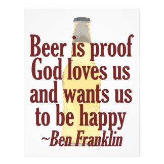Beer is Proof 21.5 Cm X 28 Cm Flyer