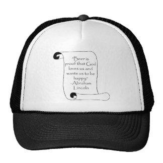 BEER IS PROOF THAT GOD LOVES US ... TRUCKER HAT