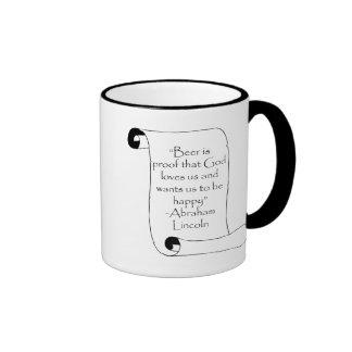 BEER IS PROOF THAT GOD LOVES US ... COFFEE MUGS