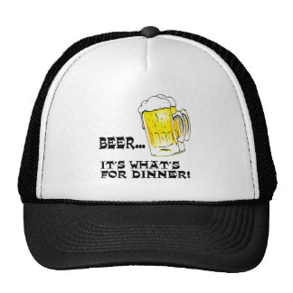 Beer - It s What s For Dinner Mesh Hat