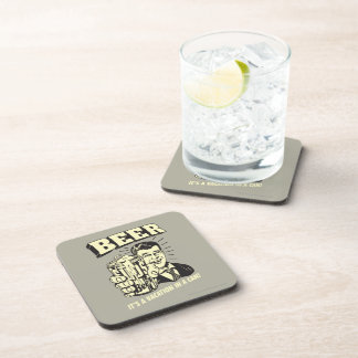 Beer: It's A Vacation In Can Drink Coasters