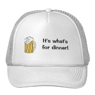 beer    it's what's for dinner mesh hats