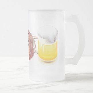 Beer keg and beer stein mugs