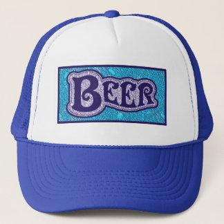 Beer Logo -  Blue Texture Look Cap