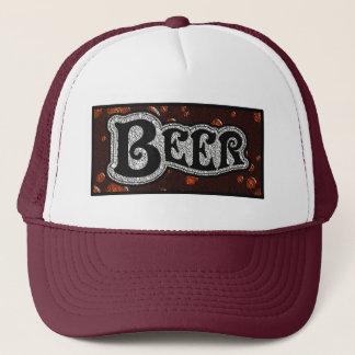 Beer Logo -  Red/BlackTexture Look Cap