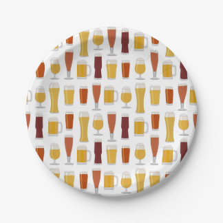 Beer Lover Print 7 Inch Paper Plate