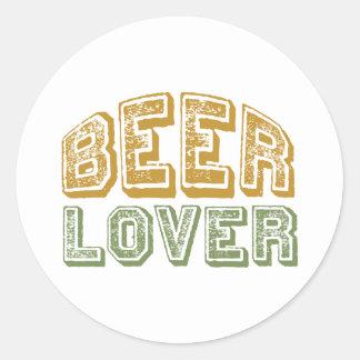 Beer Lover Round Sticker