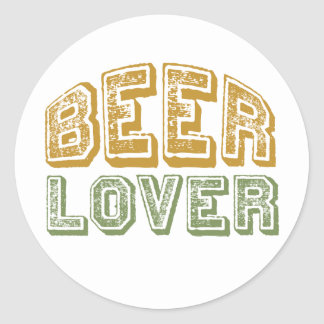 Beer Lover Round Stickers