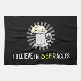Beer Lovers Believe in Beeracles Tea Towel