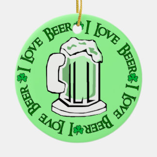 Beer Lovers Round Ceramic Decoration