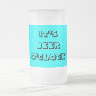 BEER LOVERS GIFT FROSTED GLASS MUG