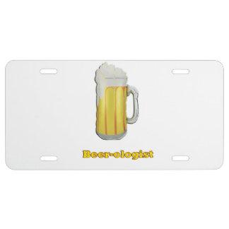 Beer lovers humor license plate