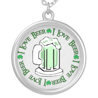 Beer Lovers Round Pendant Necklace