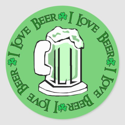 Beer Lovers Round Stickers