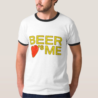Beer loves me funny party keg drinking fun tshirts