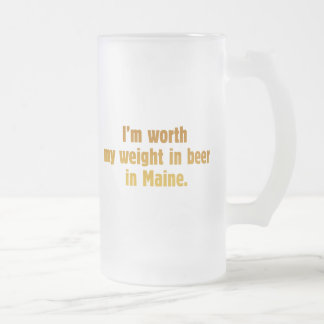 Beer Maine Frosted Glass Mug