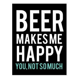 Beer Makes Me Happy Postcard