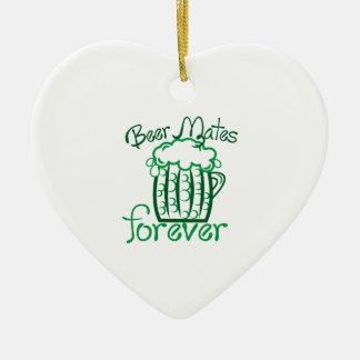 Beer Mates Ceramic Heart Ornament