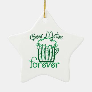 Beer Mates Ceramic Star Ornament