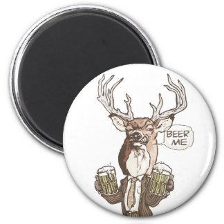Beer Me Beer Buck by Mudge Studios 6 Cm Round Magnet